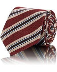 Brioni - Striped Silk Basket-weave Necktie - Lyst