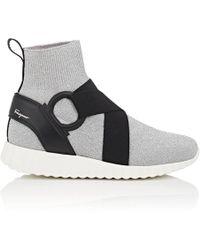 Ferragamo - Harness-strap Knit Sneakers - Lyst