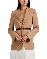 Bottega Veneta Wool Twill Belted Blazer - Multicolor