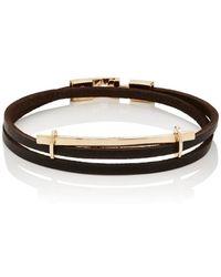 Zadeh San Remo Double-wrap Bracelet - Metallic