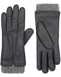 Barneys New York - Leather & Cashmere Gloves - Lyst