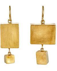 Judy Geib - Giant Cubic Double-drop Earrings - Lyst