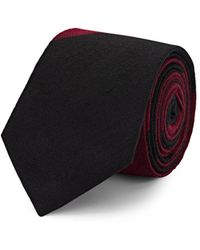 Alexander Olch Colorblocked Wool Necktie - Black