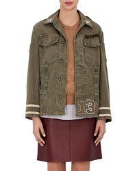 813 Ottotredici love Cotton Twill Field Jacket - Green