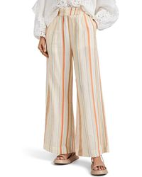 Ace & Jig Stroll Striped Cotton Gauze Trousers Size M - Natural