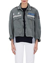 813 Ottotredici Washed Canvas Field Jacket - Gray