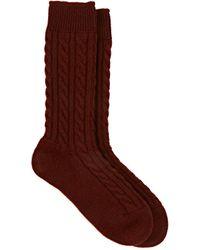 Corgi - Cable-knit Cashmere Mid - Lyst