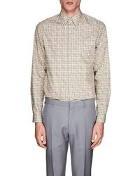 Prada - Circle Cotton Poplin Shirt - Lyst