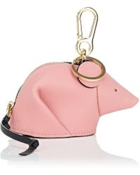 Loewe - Mouse Leather Coin Purse Key Chain - Lyst