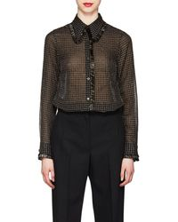 Dries Van Noten - Metallic Checked Blouse - Lyst