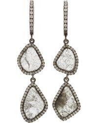 Monique Pean Atelier - Double Diamond Slice Hoop Earrings - Lyst