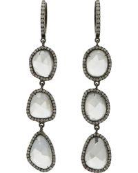 Monique Pean Atelier - Sapphire & Diamond Triple Drop Hoop Earri - Lyst