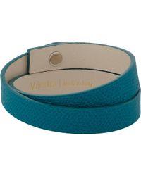 Valextra - Leather Wrap Bracelet - Lyst