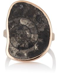 Dezso by Sara Beltran - Fossilized Ammonite Ring Size Na - Lyst