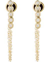 Ileana Makri - Chained Bar Earrings - Lyst