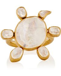 Munnu - Spinning Moonstone Turtle Ring - Lyst