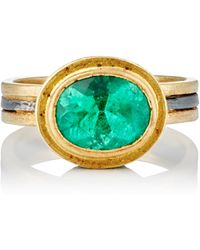 Judy Geib - Colombian & Pavé Emerald Ring Size Na - Lyst