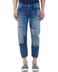 FDMTL - Crop Patchwork Jeans - Lyst