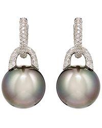 Sidney Garber - Pavé Pearls Earrings - Lyst