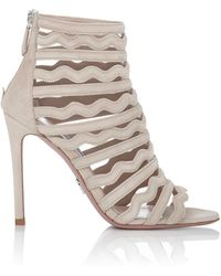 prada pink suede sandals