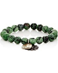 Miracle Icons - Ruby Zoisite Bead & Charm Bracelet - Lyst