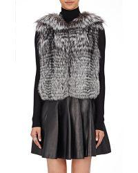 J. Mendel Fur & Sequined Vest - Black
