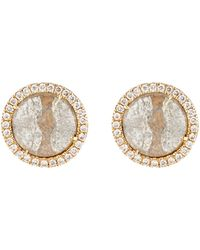 Monique Pean Atelier - Grey Diamond Circular Stud Earrings - Lyst