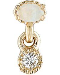 Jennie Kwon - White Diamond & Opal Stud Earring - Lyst