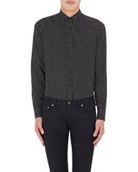 Saint Laurent Star Print Shirt - Black
