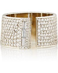 Monique Pean Atelier - Women's White Diamond & White Gold Serra Ring - Lyst