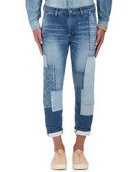 FDMTL - Cropped Boro Jeans - Lyst