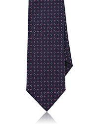 Uman - Neat-embroidered Silk Necktie - Lyst