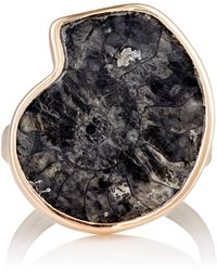 Dezso by Sara Beltran - Fossilized Ammonite & Rose Gold Ring Size Na - Lyst