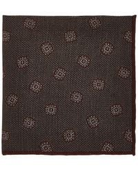 Luciano Barbera - Floral Woven Wool-silk Pocket Square - Lyst