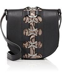 Alexander Wang Lia Mini Ring Leather Saddle Bag - Black