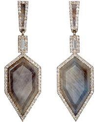 Monique Pean Atelier - Geometric Double-drop Earrings - Lyst