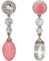 Munnu - Purposely Mismatched Drop Earrings - Lyst