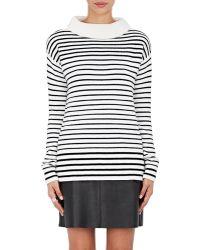 ATM - Striped Mock Turtleneck Sweater - Lyst