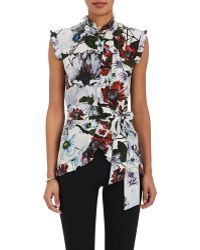 Erdem - Maha Floral Silk Top - Lyst