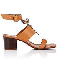 Chloé Kingsley Leather Ankle - Metallic