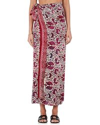 Natalie Martin - Floral Silk Oversized Pareo - Lyst