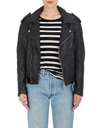 Icons - Leather Moto Jacket - Lyst