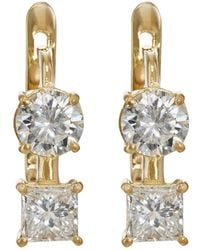 Ileana Makri - White Diamond Drop Earrings - Lyst