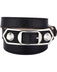 Balenciaga - Metallic Edge Double Tour Wrap Bracelet - Lyst