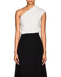Lanvin - Silk One-shoulder Top - Lyst