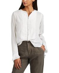 Pas De Calais - Pinstriped Cotton Blouse - Lyst