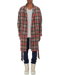 Fear Of God Plaid Wool Twill Robe - Brown