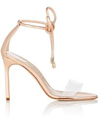 Manolo Blahnik - Estro Leather & Pvc Ankle - Lyst