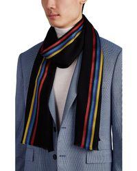 Paul Smith - Artist Striped Wool-silk Scarf - Lyst