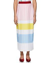 Vivetta - Pleated Crepe Maxi Skirt - Lyst